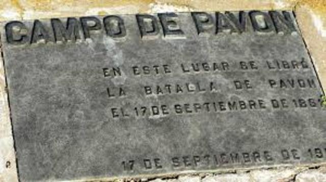 Derrota en la Batalla de Pavon