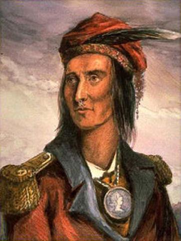 Tecumseh begins unifying tribes