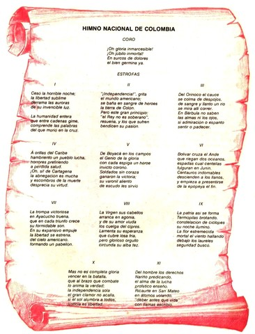 Creación del Himno Nacional de Colombia