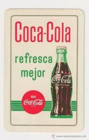 Coca Cola, refresca mejor..