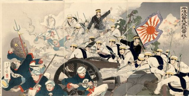 The Sino-Japanese war  (until 17th April 1895)