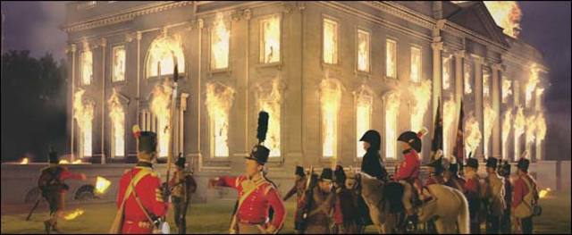British troops set fire to the White House