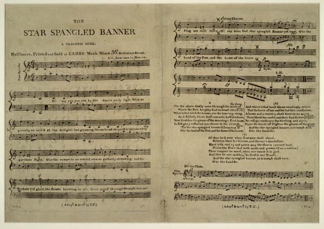 "Francis Scott Key writes ""The Star Spangled Banner"""
