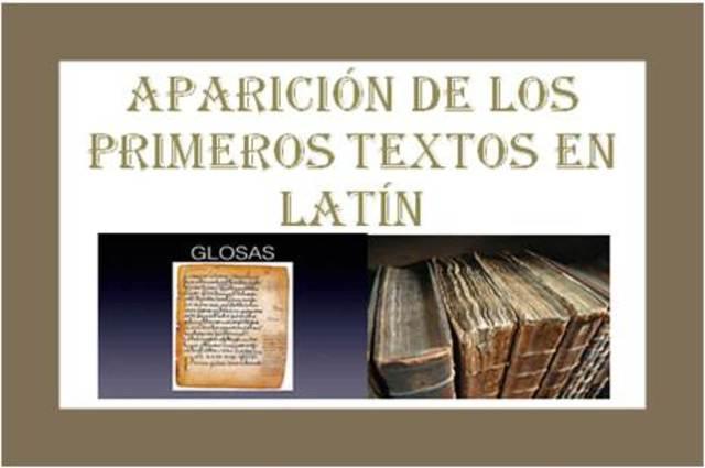 Aparición de los primeros textos en latín