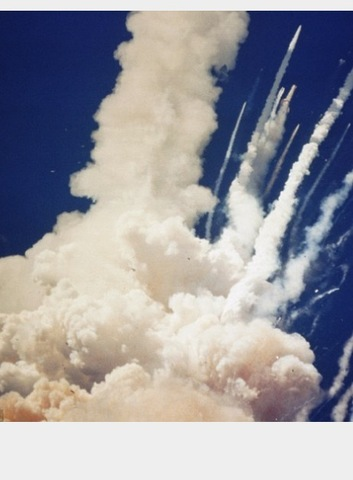 Space Shuttle Challenger Explodes