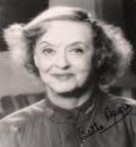 The death of Bette Davis