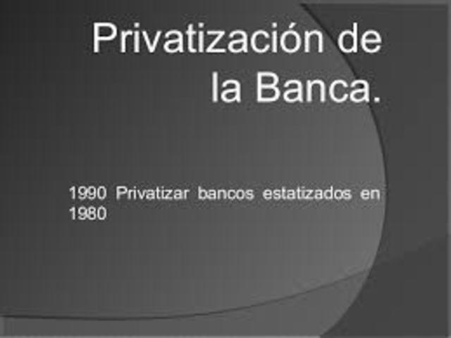 Saneamiento, fortalecimiento y privatización de los bancos