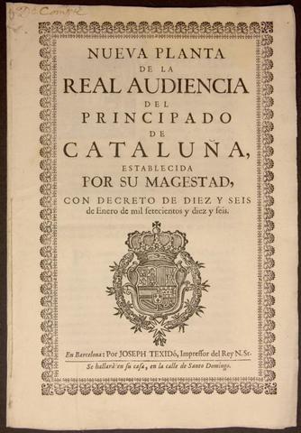El govern de Felip V i els decrets de Nova Planta