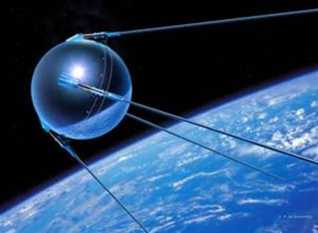 The first artificial  satellite Sputnik was launched by the Soviet Union