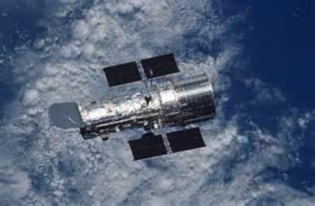 Hubble Space Telescope launced into low Earth orbit