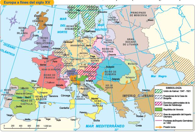 Panorama europeo XV y XVI