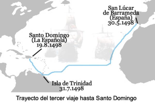 Tercer viaje 30 mayp de 1498 a noviembre de 1500