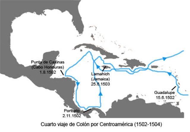 Cuarto Viaje 11 de mayo de 1502 a 7 de noviembre de 1504