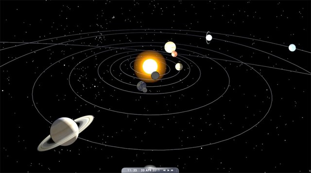 First photograph of the whole solar system