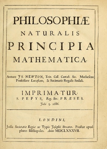 Publication of the principia