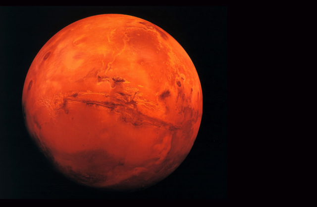 Discovery of Water Frost on Mars