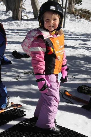 First skiing lesson in Mount Buller, Australia