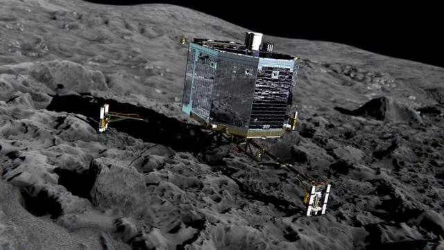 First Spacecraft to Land on a Comet