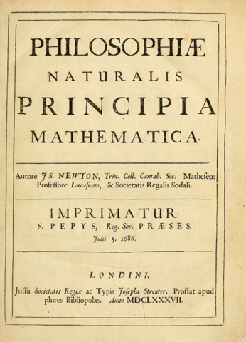 The Principia was first published