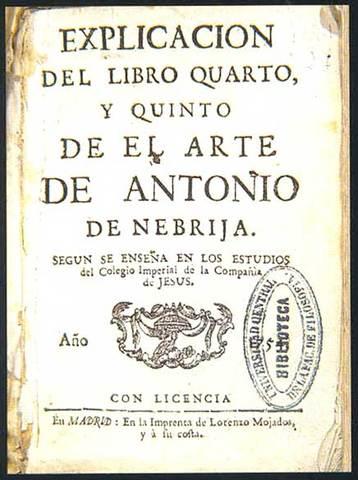 1492- Primera Gramática