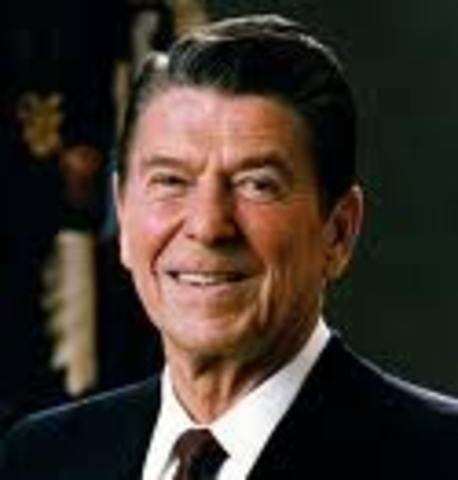 Ronald Reagn becomes President