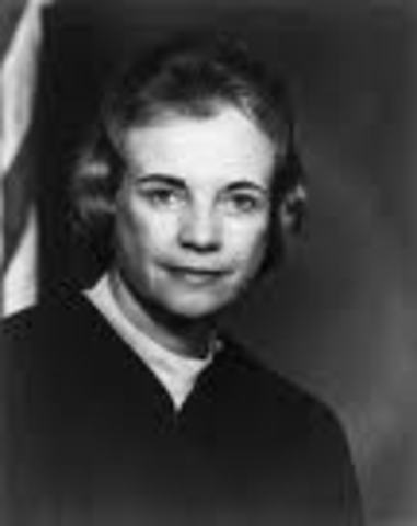 Sandra Day O'Connor Inducted