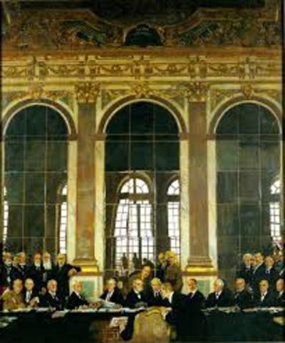 The Treaty of Versailles confirms Japan's war gains