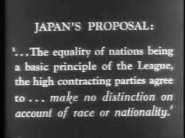 """Japan's Proposal : """"Racial Equality Clause"""""""