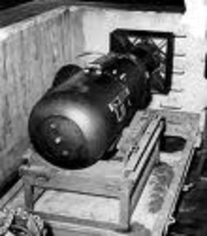 "Little Boy"" atomic bomb dropped on Hiroshima"