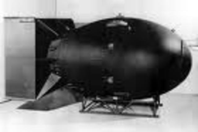 """Fat Man"" dropped on Nagasaki."