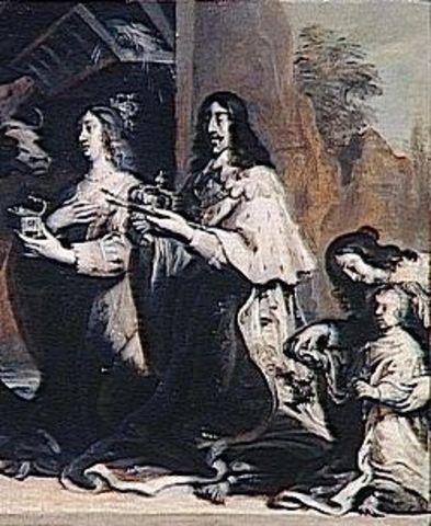 Mariage à Bordeaux de Louis XIII avec Anne d'Autriche,