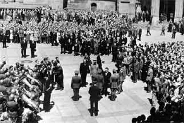 Communist takeover in Czechoslovakia