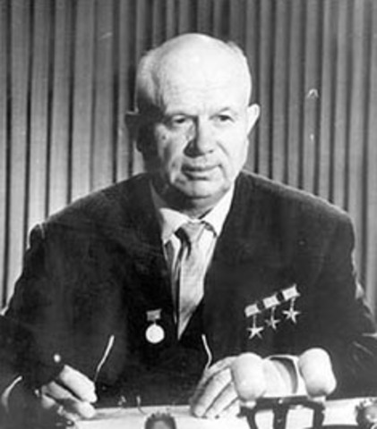 Khrushchev visits United States; denied access to Disneyland
