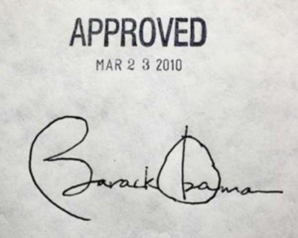 Obama Care Law Signed