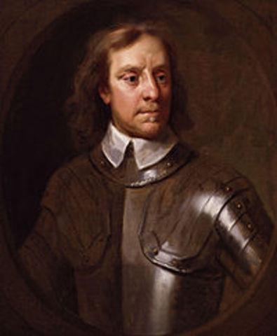 Décès d'Olivier Cromwell.