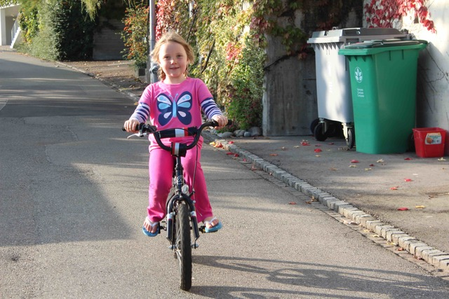 When I first learned how to ride my bike.