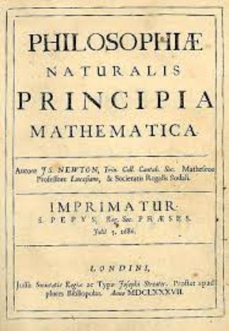 Newton publishes his major work, Principia.