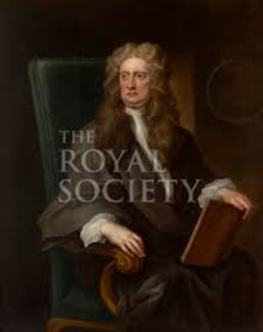 Newton becomes president of the Royal Society.