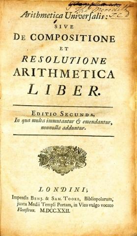 Newton publishes Arithmetica universalis.