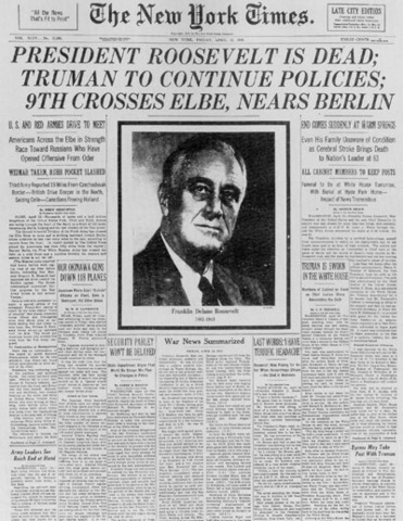 The End of President Roosevelt