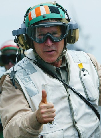 """President Bush: """"Major combat operations in Iraq have ended."""""""