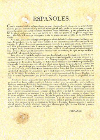 El regnat de Ferran VII: El Trienni Liberal