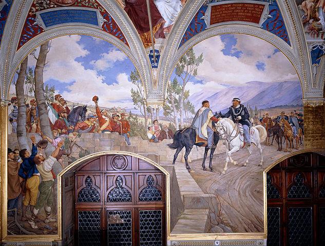 Garibaldi incontra Vittorio Emanuele II