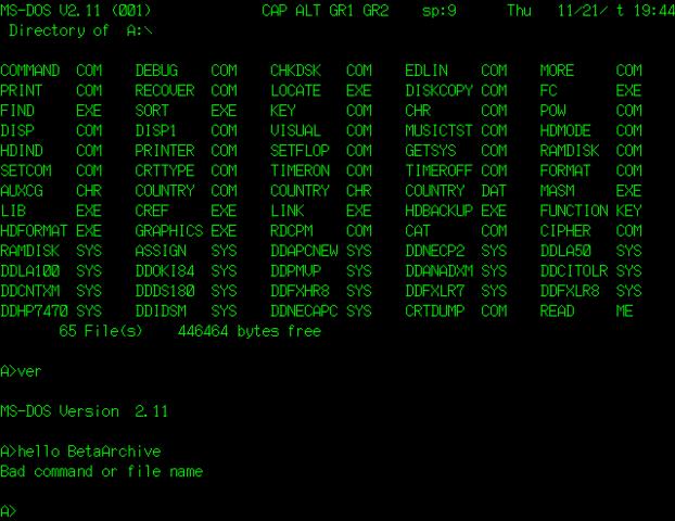 MS-DOS 2.11