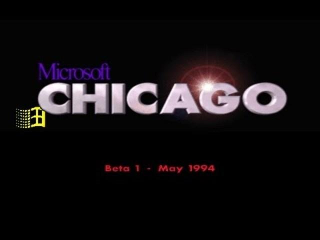 Windows 95 Chicago Beta