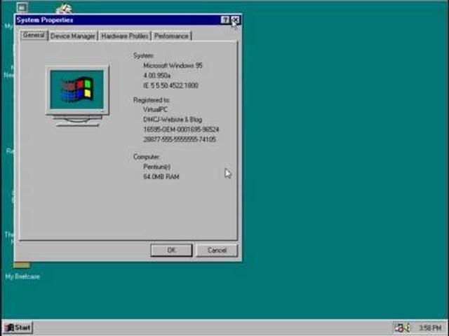 Windows 95 Service Pack 1