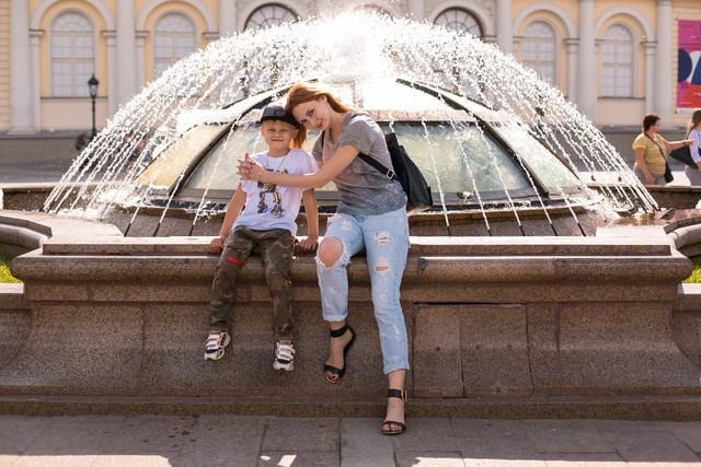 Поездка в Москву в гости к крестной
