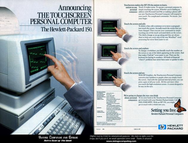 HP-150 Primer ordenador con pantalla táctil