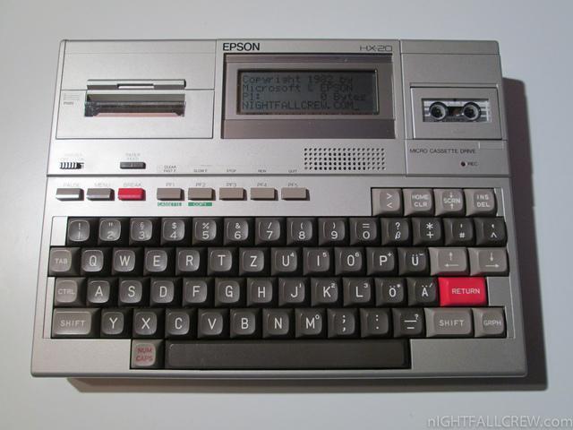 Epson HX-20 Primer ordenador portátil