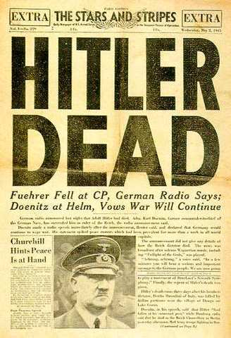 Adolf Hitler Commits Suicide.